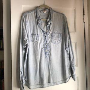 J. Crew chambray button down shirt